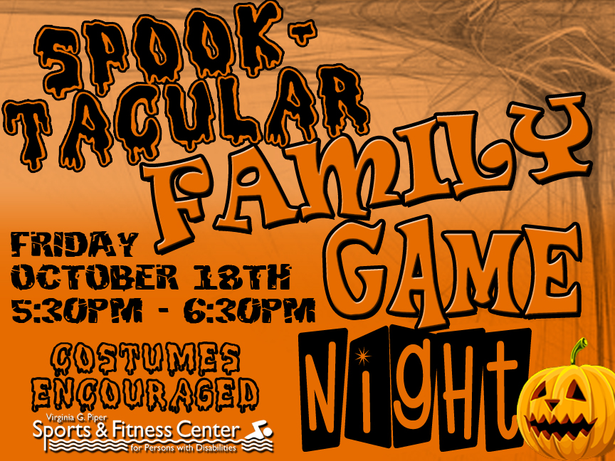 join us friday october 18th for our halloween version of family game night from 530 630pm fun and games for the entire family